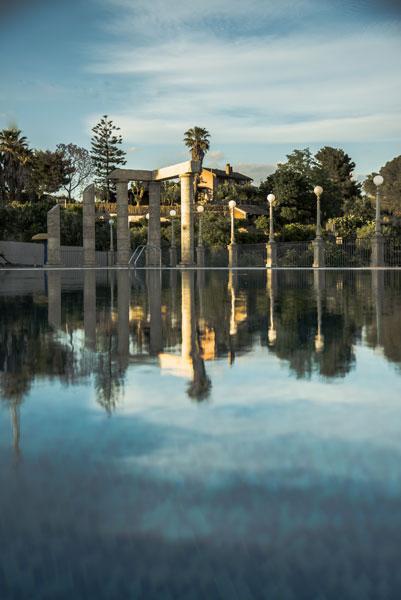 riflesso piscina
