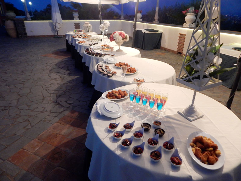 finger food in terrazza