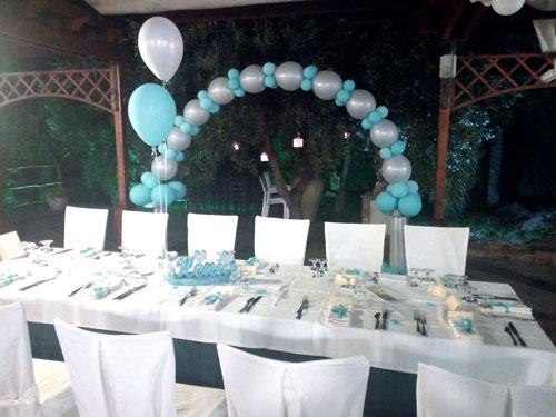 tavolo con pallioncini